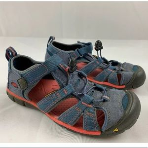 Keen Seacamp II CNX Blue & Pink Sandals Youth 3